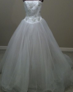 Abeille Bridal Couture 001 Sz: 12 Oyster/Ivory Original Price:$1697Our Price: $559.00