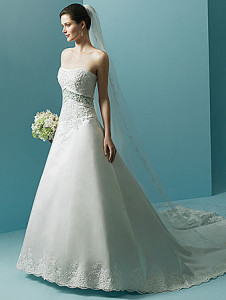 Alfred Angelo1708 Sz: 18 Ivory Sage Original Price: $899Our Price: $299.00