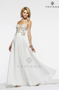 FavianaS7325 Sz:8 Ivory/Gold Order Price:$389Our Price: $419.00